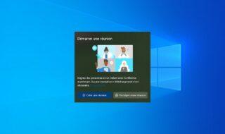 Windows 10 : voici comment vous débarrasser de l'icône «Démarrer une réunion »