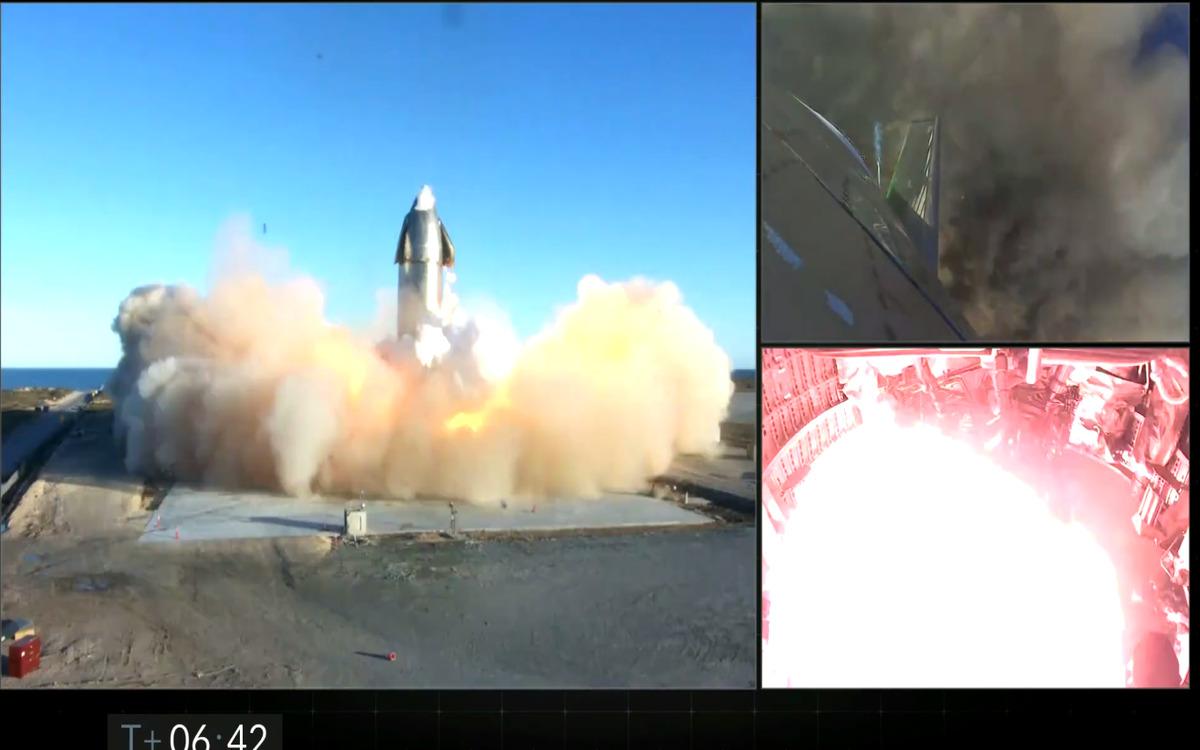 Atterrissage explosif de Starship