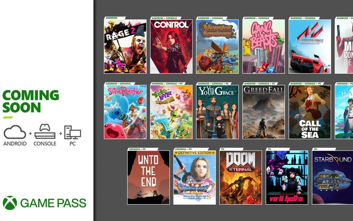 Xbox Game Pass décembre 2020