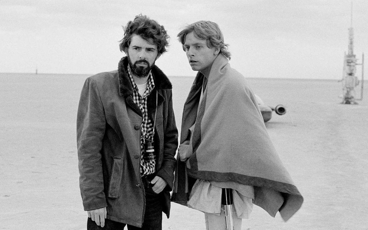 Georges Lucas et Mark Hamill