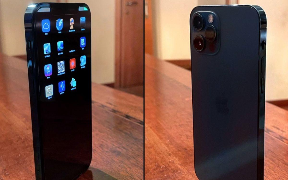 Un prototype d'iPhone 12 Pro bleu avec iOS 14.1 limité