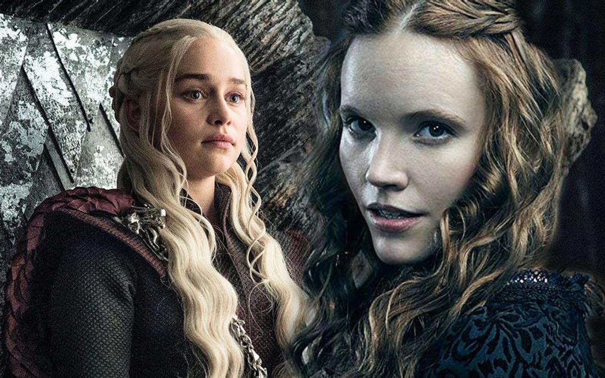 Emilia Clarke et Tamzin Merchant dans Game of Thrones