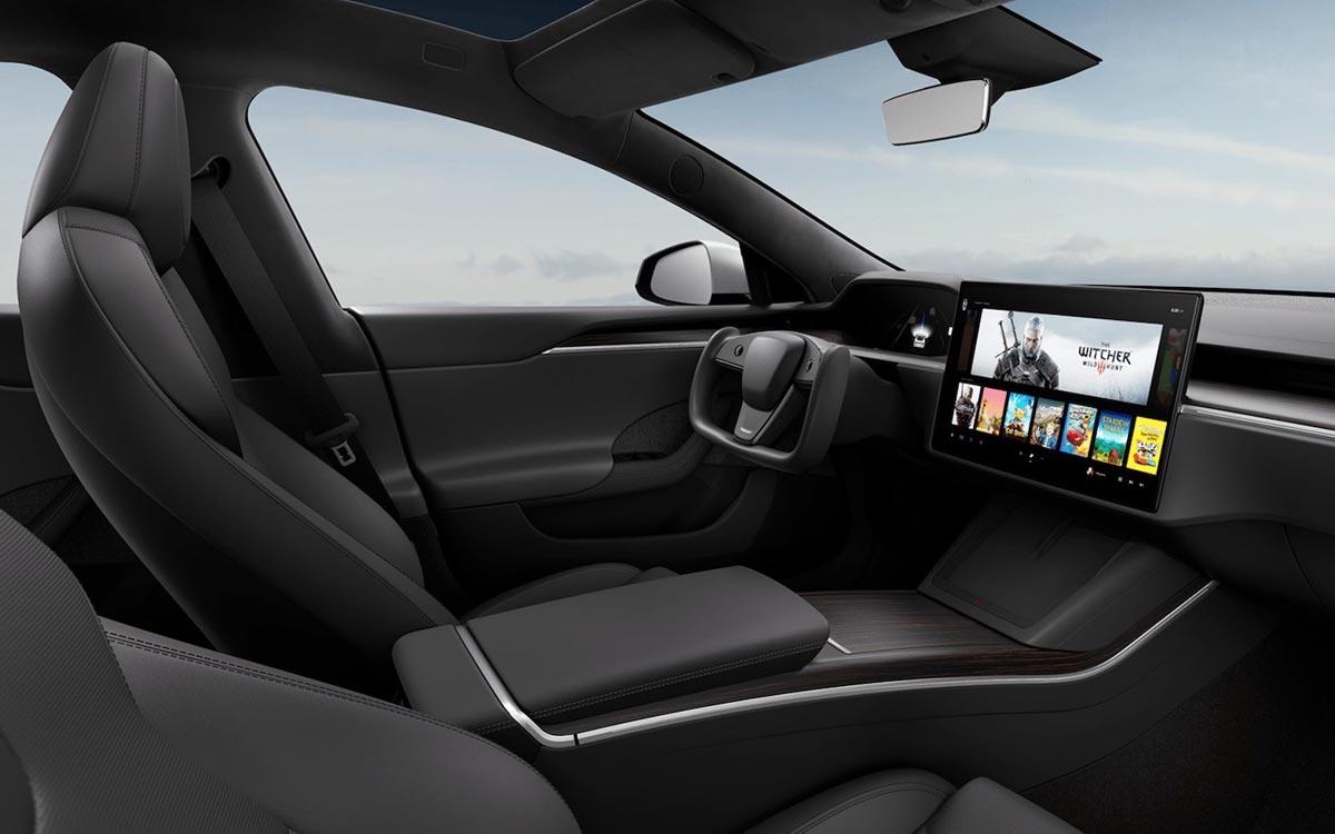 Intérieur de la nouvelle Tesla Model S