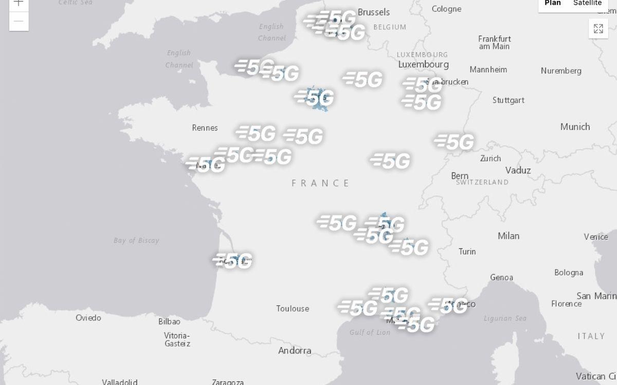 5G les zones couvertes par Bouygues Telecom
