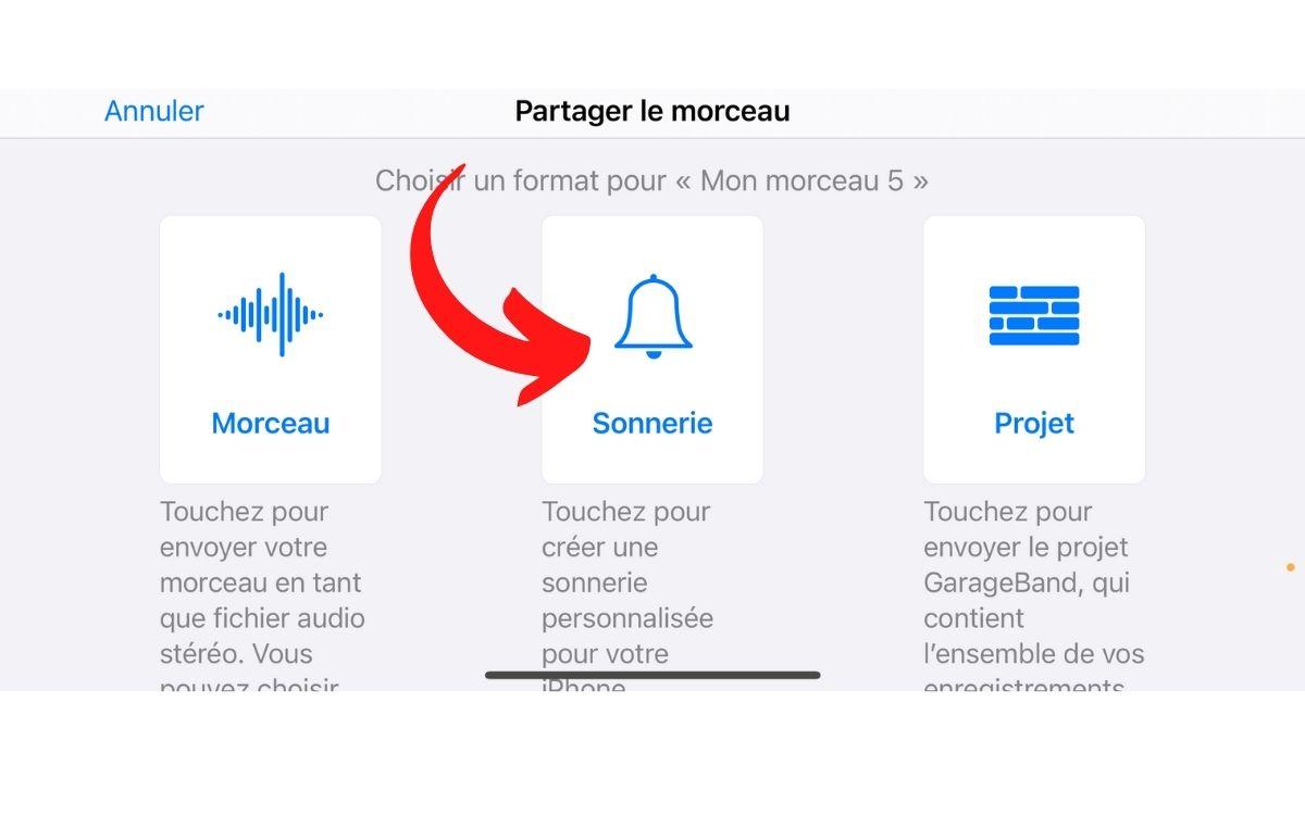 Convertir musique sonnerie iPhone