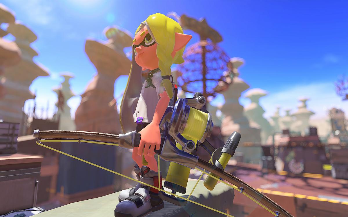 Splatoon 3, le nouvel arc. Image Nintendo