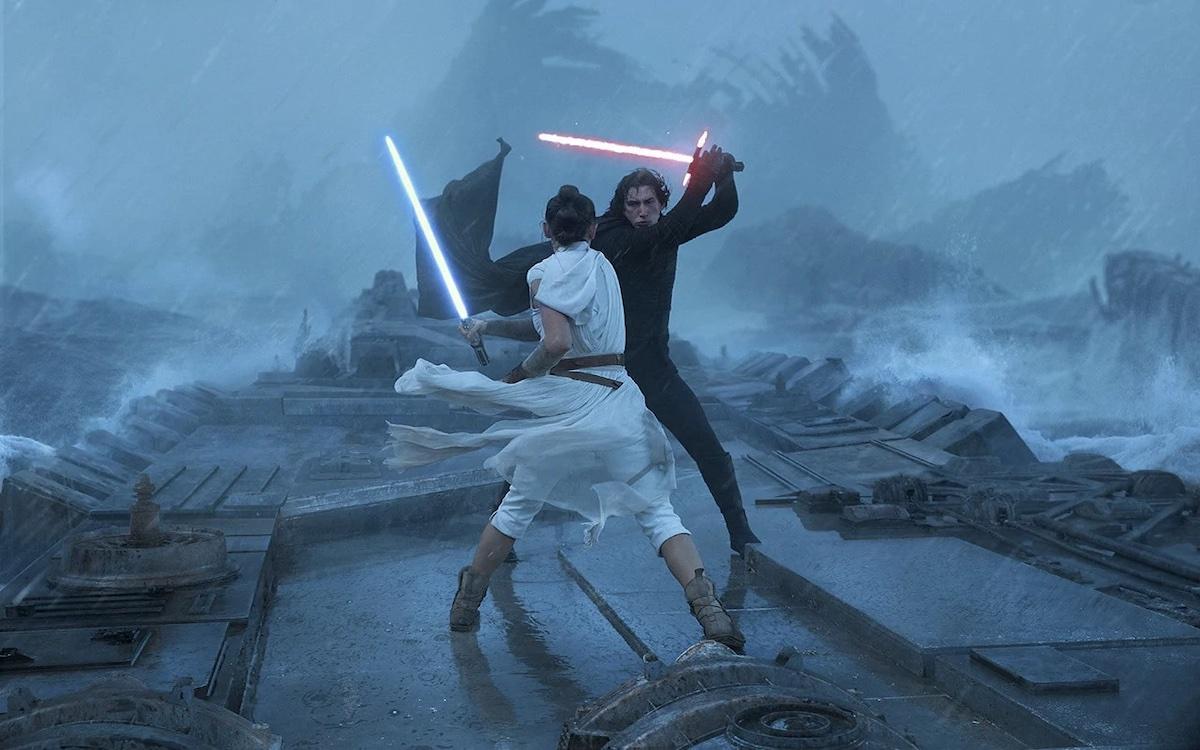 Le duel entre Kylo Ren et Rey dans L'Ascension de Skywalker. Image Lucasfilm