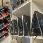 Des fermes de minage composées d'ordinateur portable