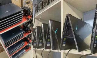 Pénurie de RTX 3060 et 3070 : les mineurs de crypto se tournent vers les PC portables et c'est rentable
