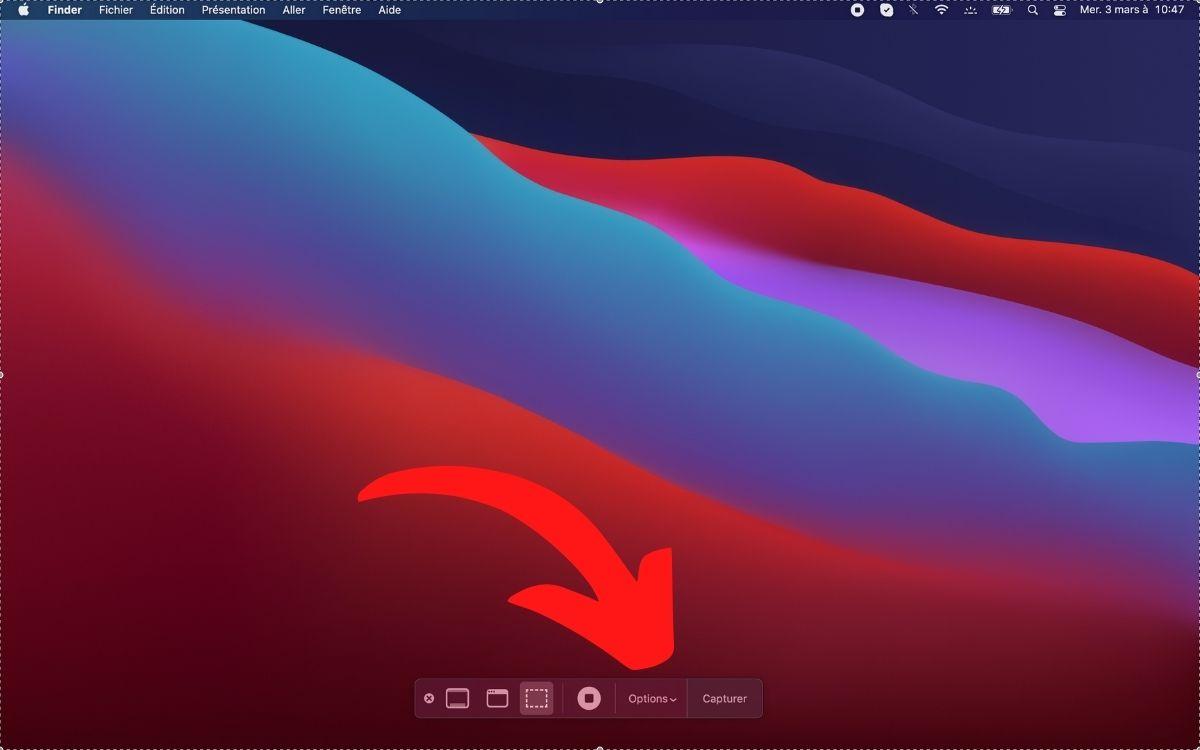 Changer emplacement capture d'écran Mac