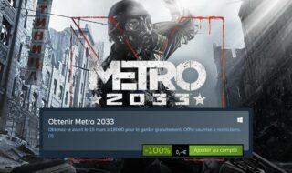 Steam : Metro 2033 est disponible gratuitement jusqu'au 15 mars