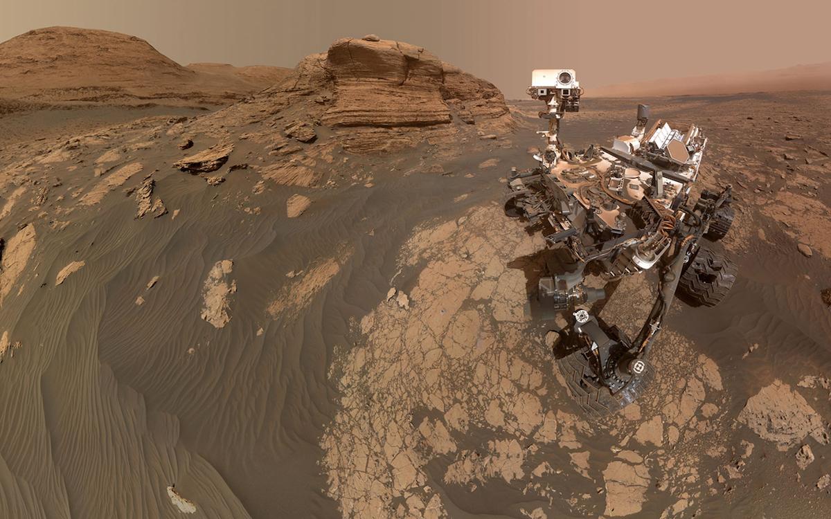 L'image prise par Curiosity. NASA/JPL-Caltech/MSSS