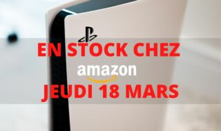 PS5 : du stock chez Amazon le 18 mars. Image Papergeek