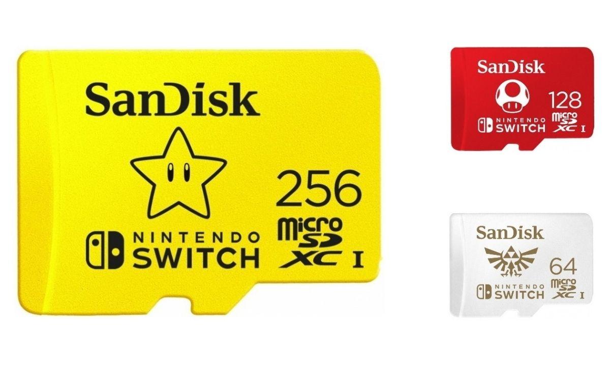 SanDisk carte microSDXC UHS-I pour Nintendo Switch