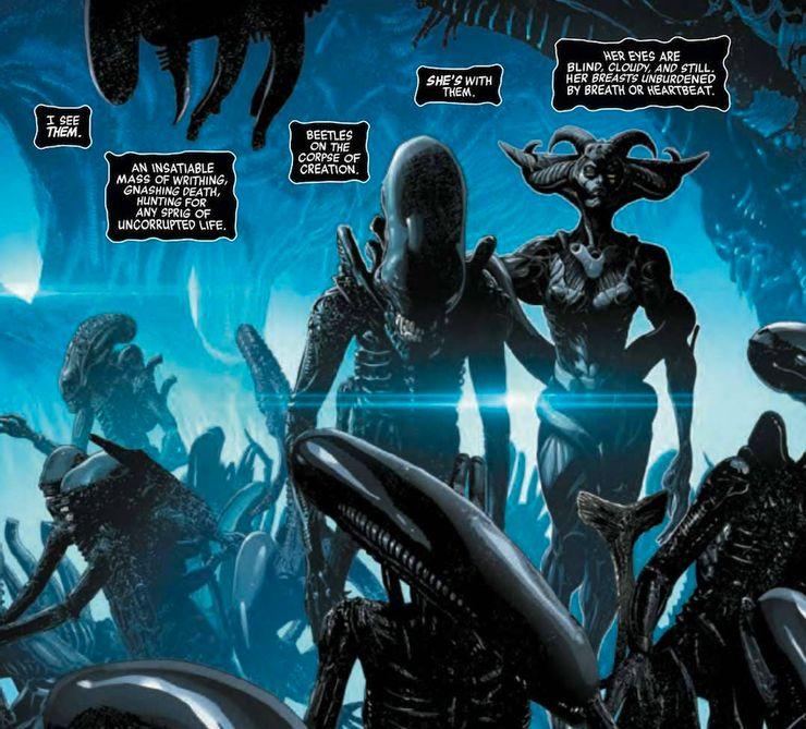 Le premier tome des comics Alien