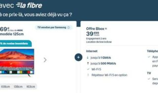 Bouygues Telecom : une Smart TV Samsung à 69€ au lieu de 499€