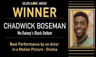 Golden Globes : Chadwick Boseman sacré à titre posthume pour son rôle dans Le Blues de Ma Rainey