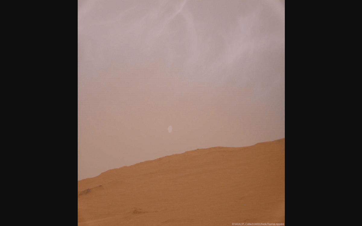 La lune Phobos vue de Mars