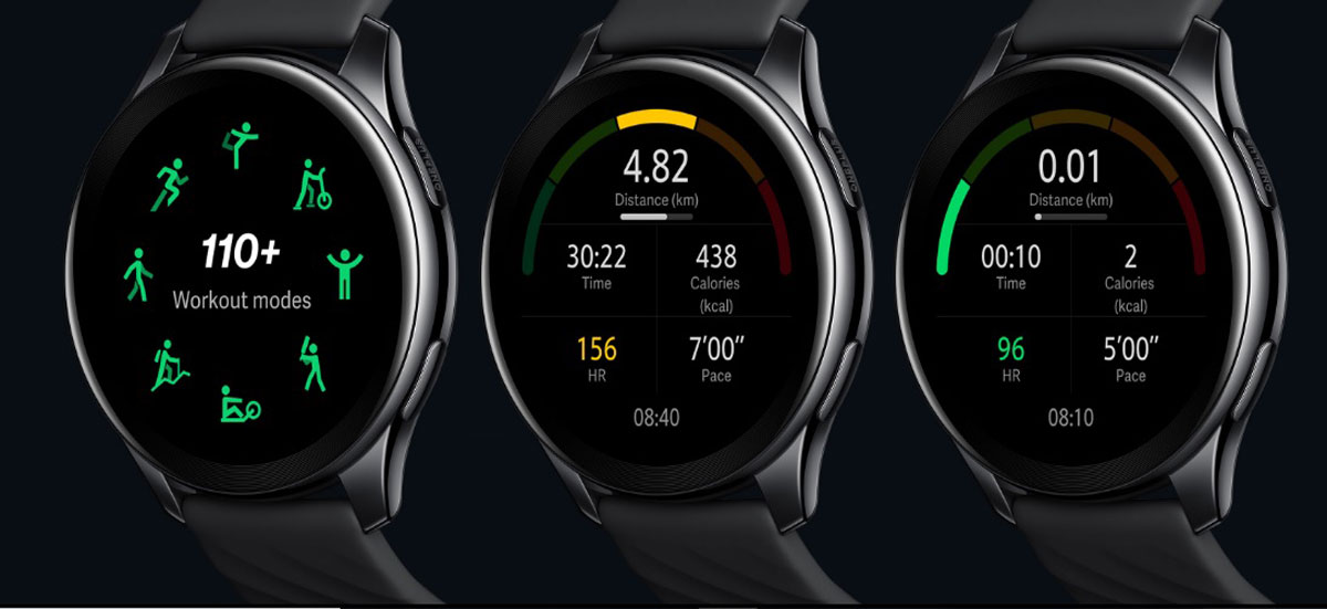 OnePlus Watch : modes d'entraînement