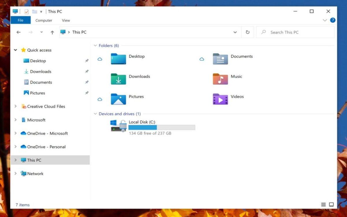 Nouvelles icônes de Windows 10