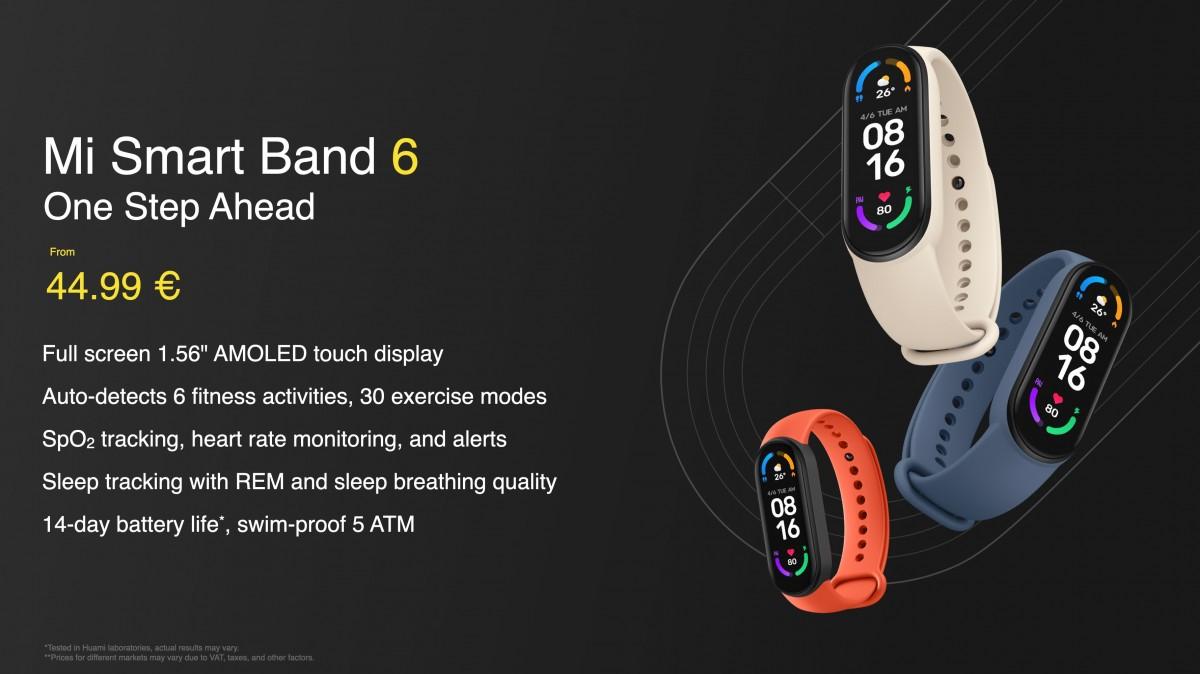 Le Xiaomi Mi Smart Band 6