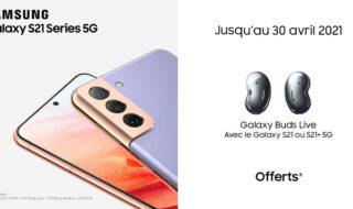 Samsung : une paire d'écouteurs Bluetooth offerte pour l'achat d'un Galaxy S21+ ou S21 Ultra