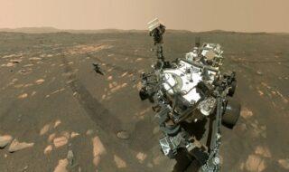 Perseverance sur Mars : un selfie avec Ingenuity dévoile la taille impressionnante du rover