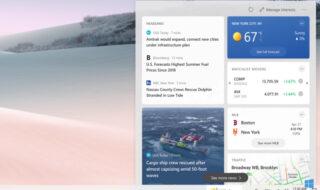 Windows 10 : voici le nouveau widget Actualités et météo