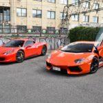 Ferrari 458 Italia et Lamborghini Aventador
