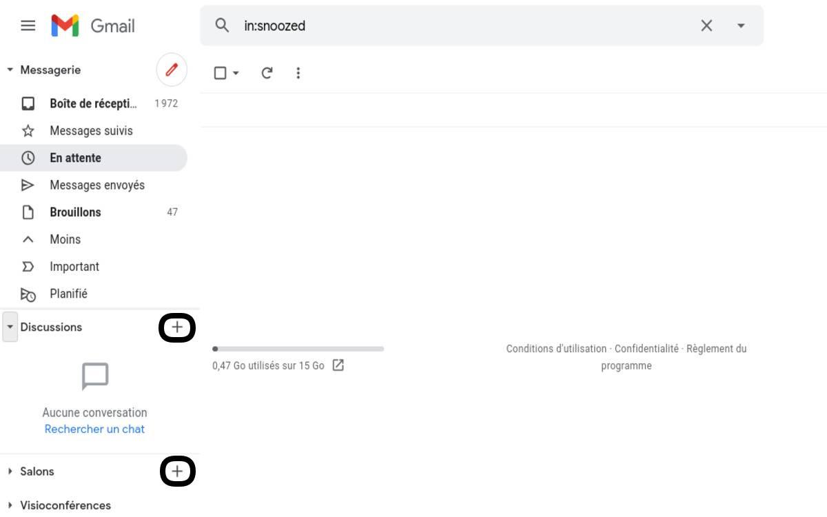 Google Chat sur Gmail