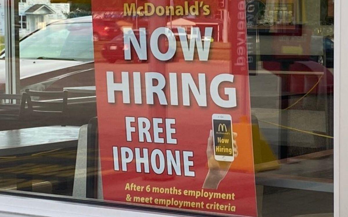 McDonalds offre iPhone