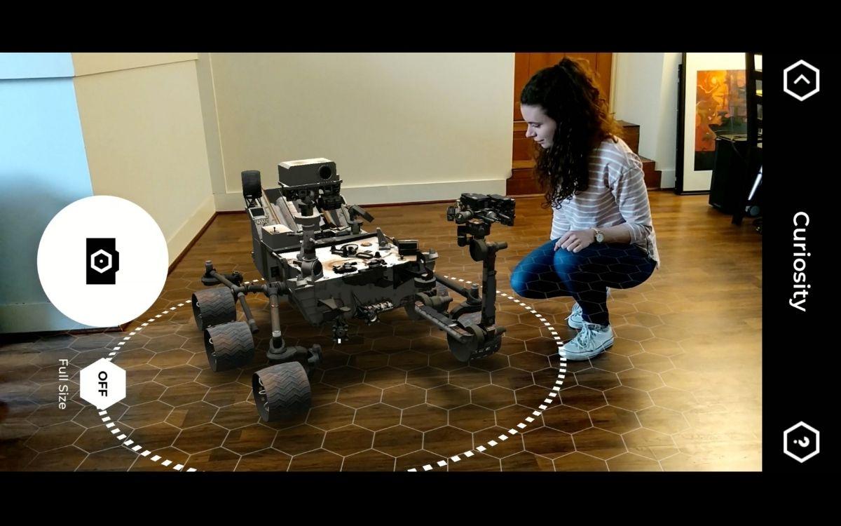 SpacecraftAR : faites apparaître le rover Perseverance en réalité virtuelle dans votre salon