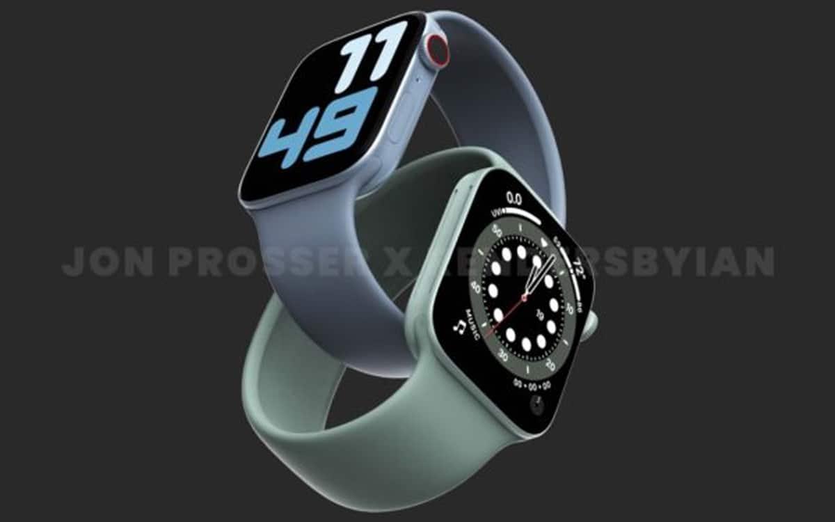 Le design supposé de l'Apple Watch Series 7