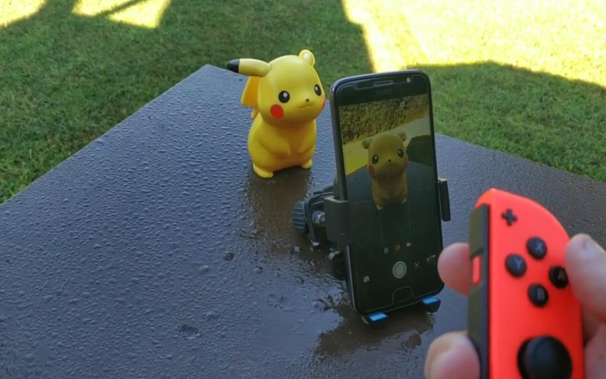 Le Joy Con peut être associé à un smartphone
