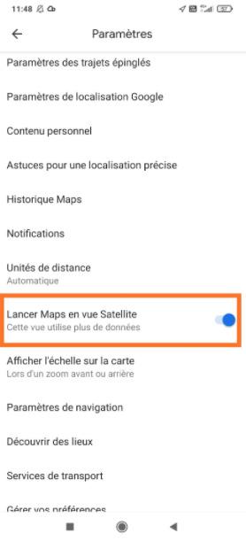 Google maps vue satellite