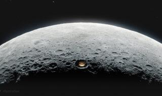 Le Lunar Crater Radio Telescope