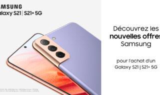 Jusqu'à 130€ de remise immédiate sur les Samsung Galaxy S21+ et S21 Ultra 5G