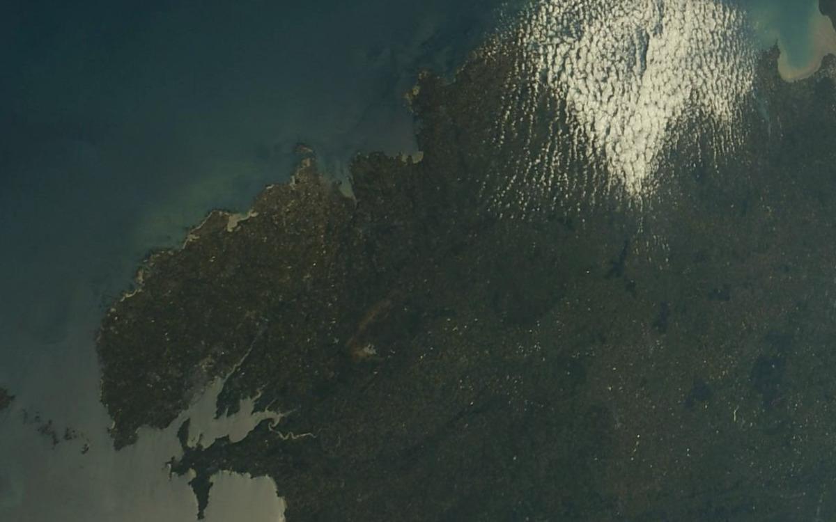 La Bretagne vue de l'espace