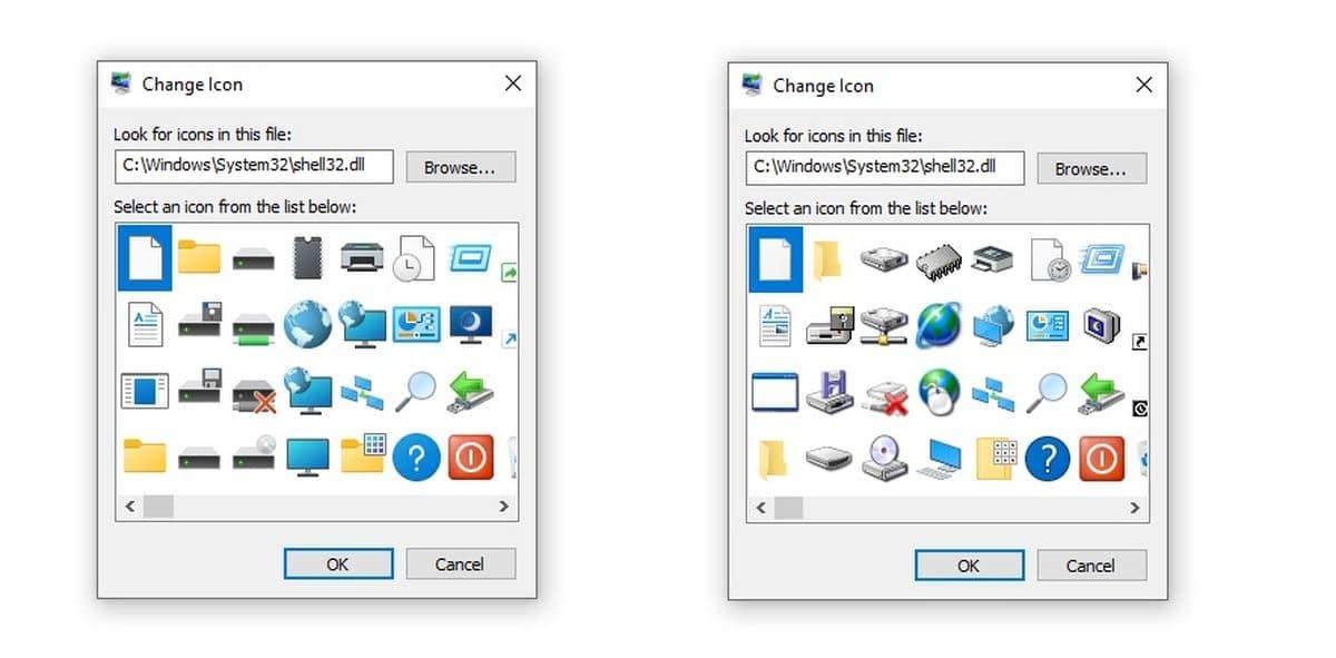 Les futures icônes de Windows 10