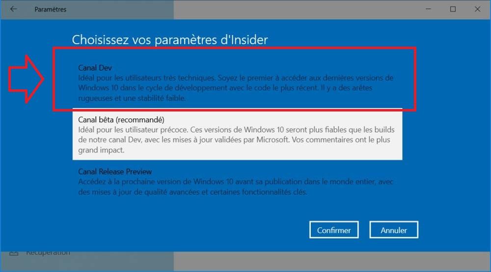 Windows Insider Canal Dev