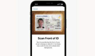 iOS 15 piece identité aéroport