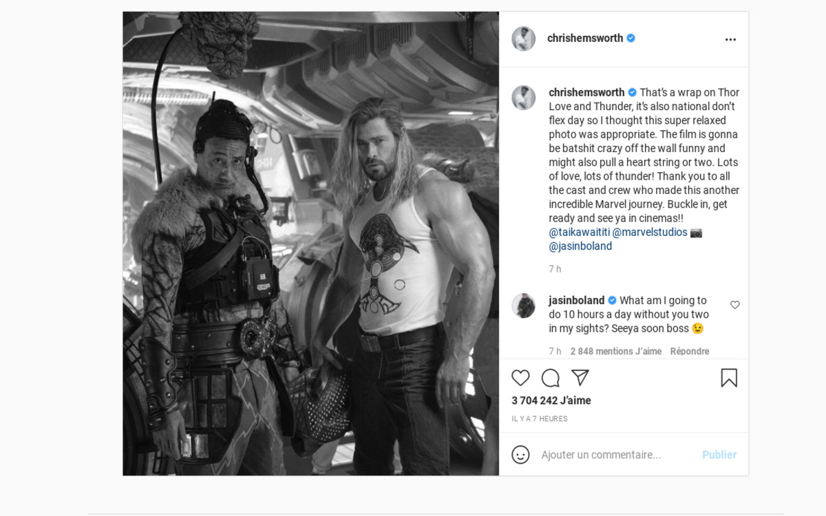 Le tournage de Thor 4 est terminé