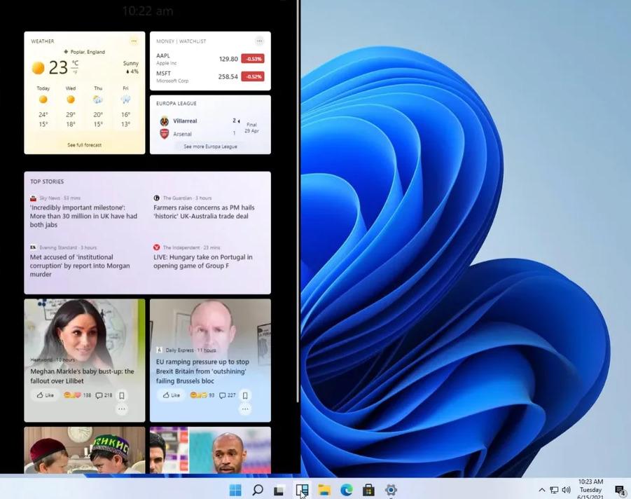 Windows 11 : les widgets