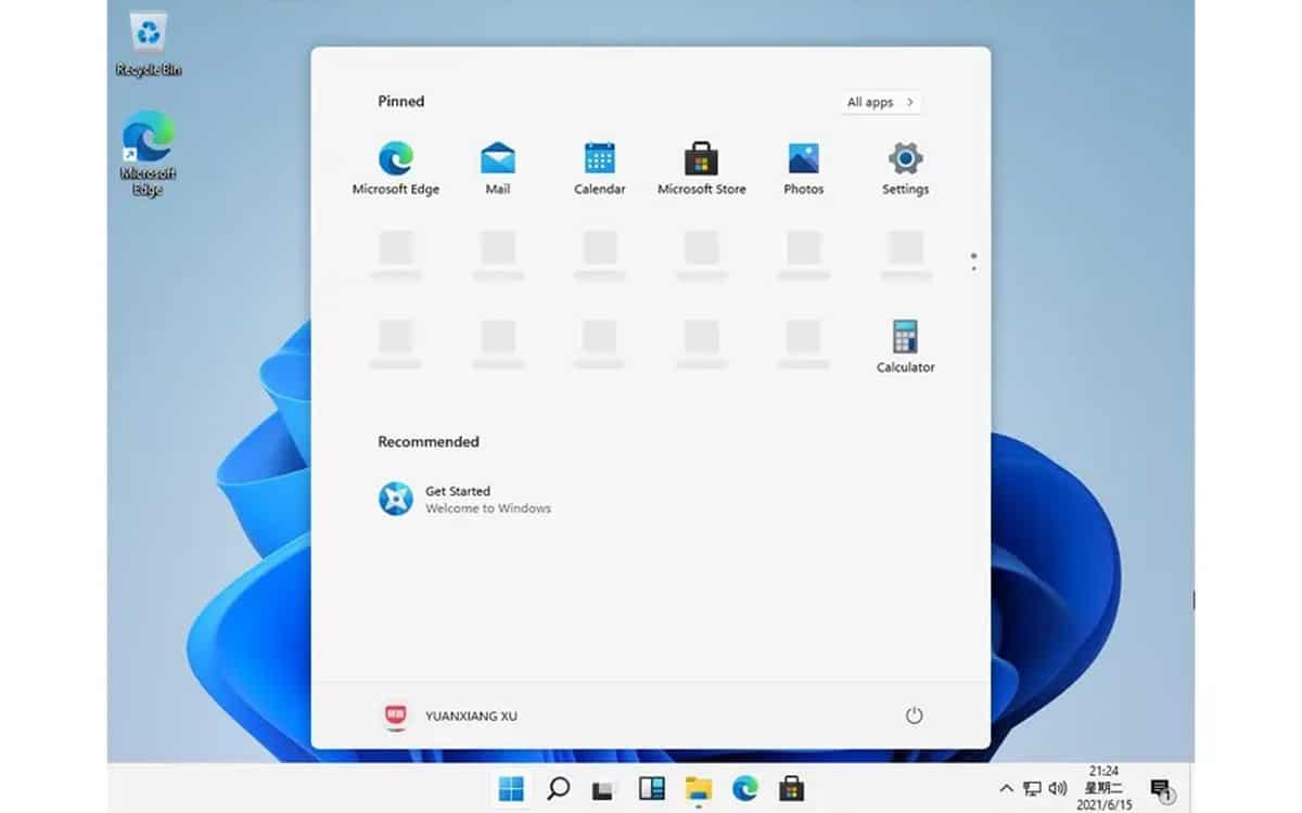 Le menu Démarrer dans Windows 11