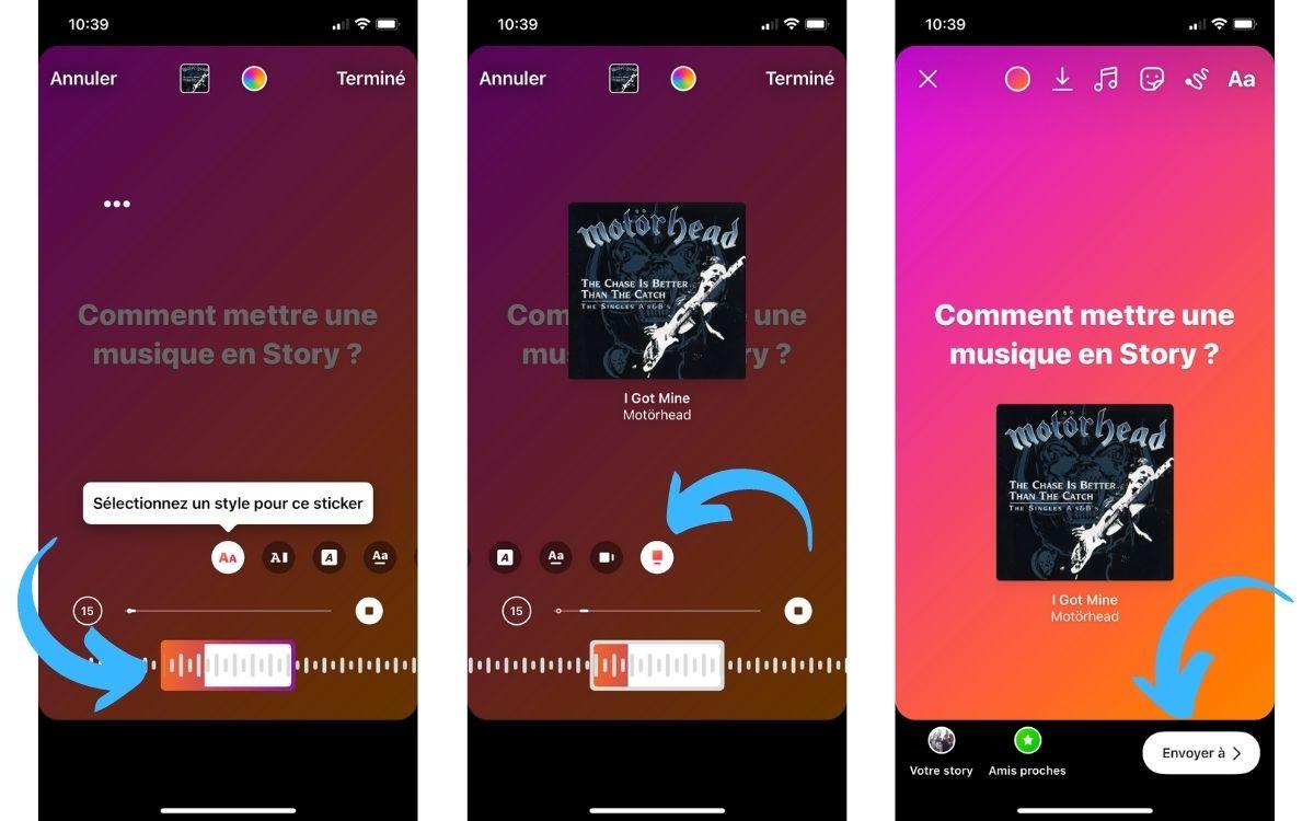 Ajouter de la musique sur une Story Instagram