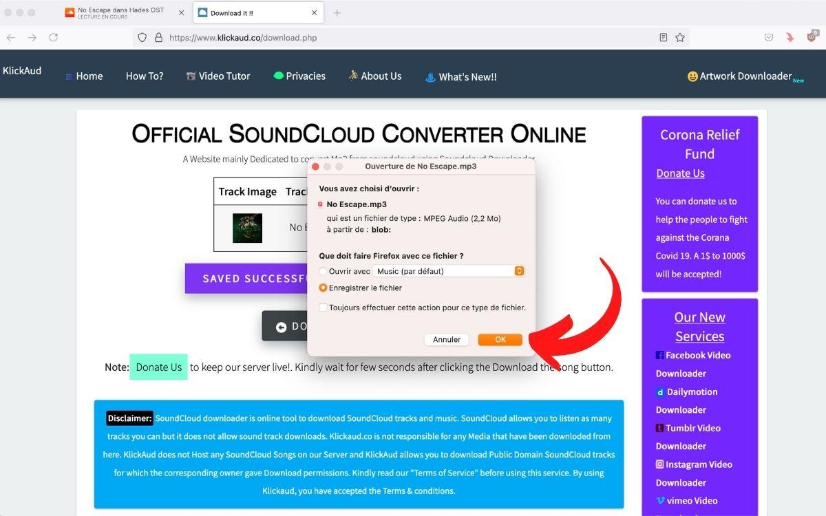 Télécharger musique SoundCloud