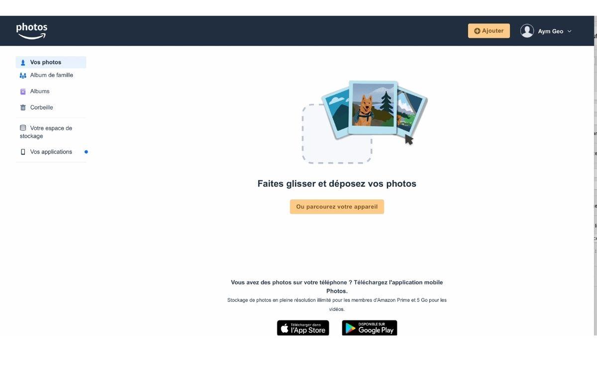 Utiliser Amazon Photos