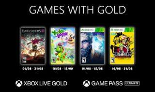 Xbox Games With Gold août 2021 : les jeux gratuits du mois