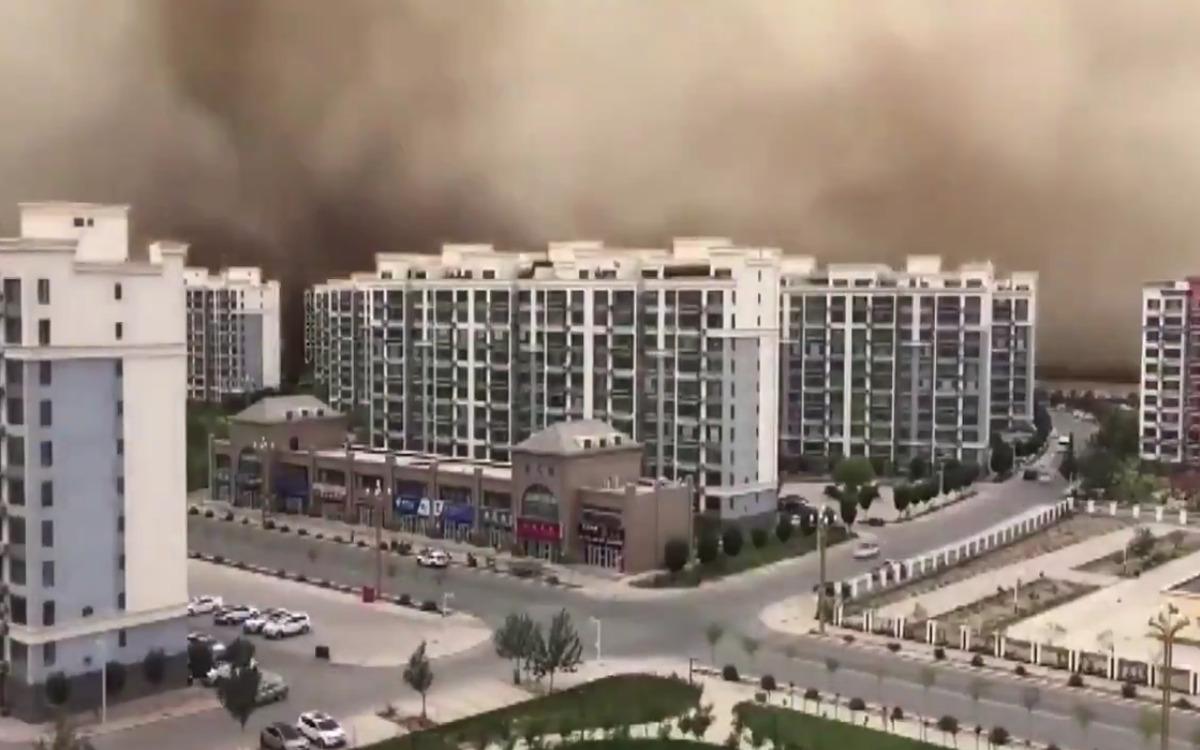 Tempête de sable en Chine