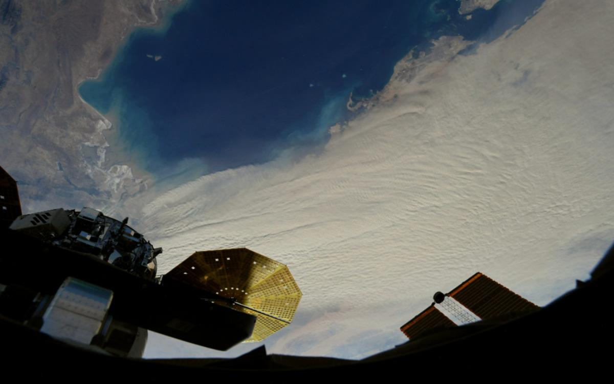 Une tempête de sable vue de l'ISS